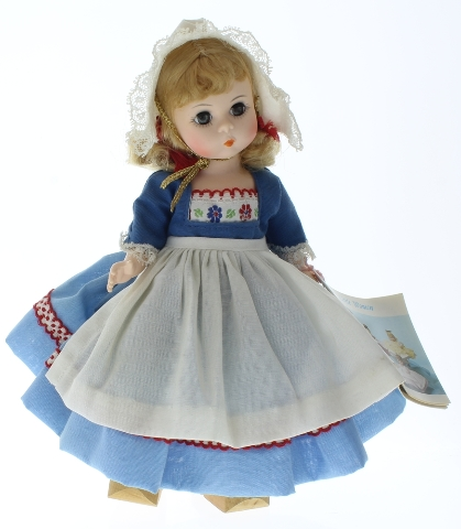 """Madame Alexander 8"""" Doll Netherlands Girl in Tagged Outfit Wood Shoes"""