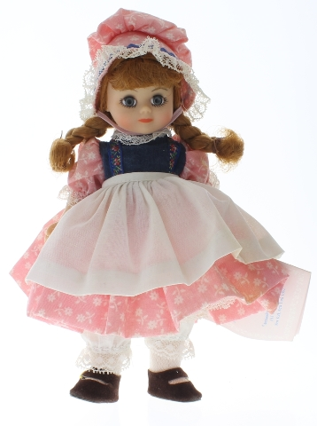 """Madame Alexander 8"""" Doll Jill fell down the hill Girl in Tagged Outfit"""