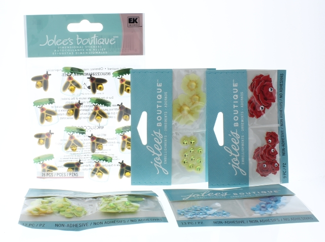 Jolee's Boutique Garden Botanical Flower Medley Honey Bees Lot Scrapbook/Card