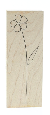 Memory Box Sketch Long Stem Botanical Flower Wooden Rubber Stamp