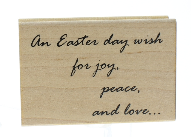 Great Impressions Easter Wish Joy Peace Love Wooden Rubber Stamp