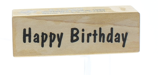 Stampa Rosa Happy Birthday Quote Words Wooden Rubber Stamp