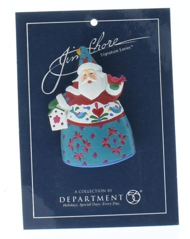Jim Shore Collectible Department 56 Hat Lapel Pin Santa Holiday Christmas