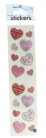 Paper House Productions Sticker Pack Hearts Romance Cookies