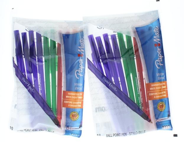 Paper Mate Write Bros Multi colored Writing Pens 2 packs 1.0MM