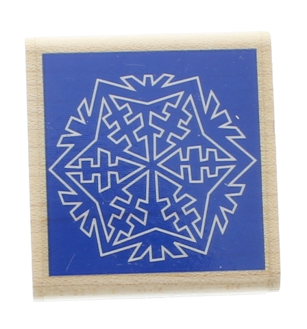 Stampabilities 1999 Snowflake Negative Space Image Wooden Rubber Stamp