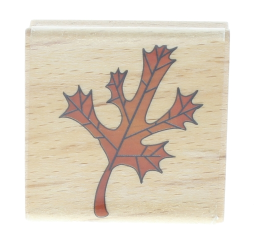 Fall Autumn Maple Leaf Sarah Beise Wooden Rubber Stamp