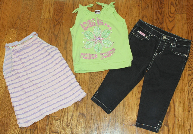 Lipstick Girls Sz 6X Black Jeans Lot & 2 shirts