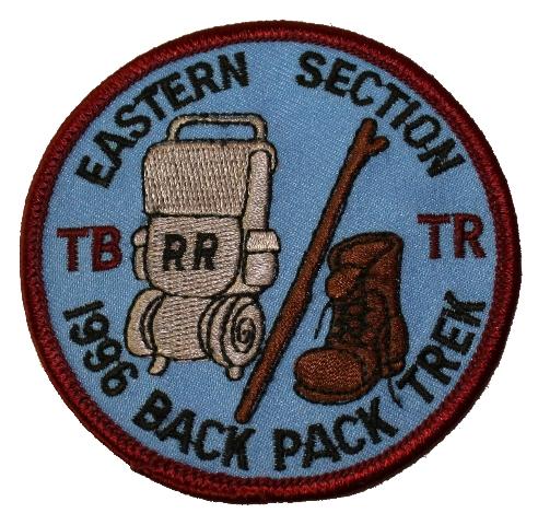 Eastern Section TB TR 1996 Back Pack Trek Boy Scout Uniform Patch