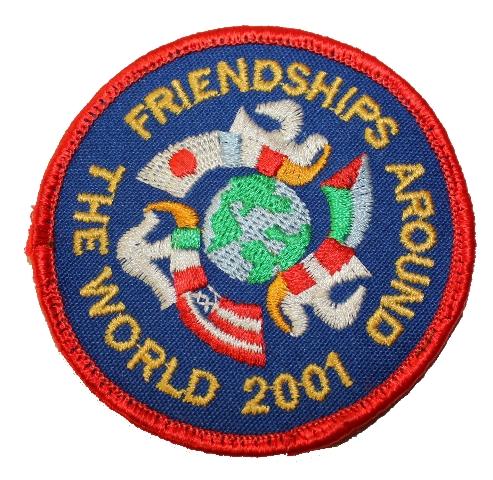Friendships Around the World 2001 Boy Scout Uniform Patch