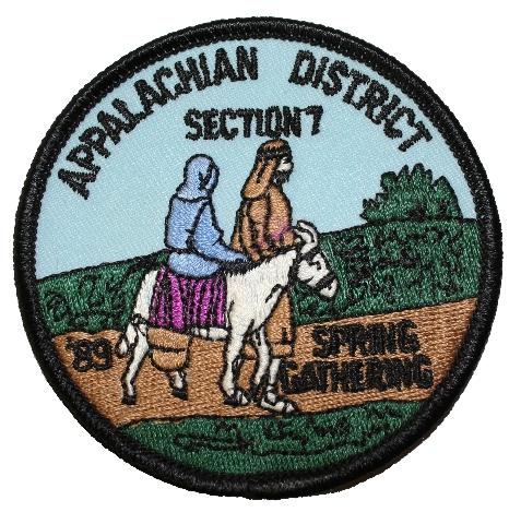 Appalachian District Section 7 1989 Spring Gathering Boy Scout Uniform Patch