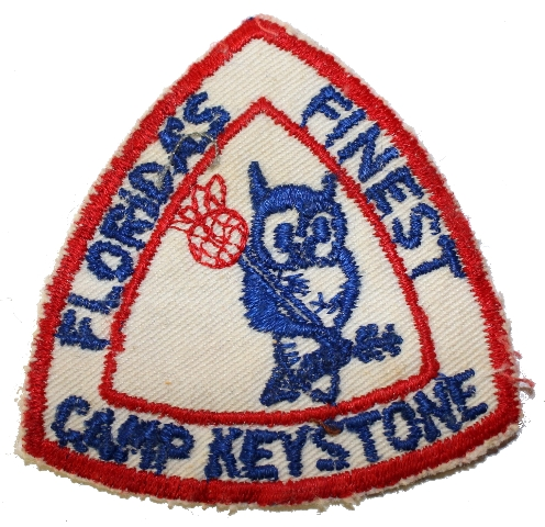 Florida's Finest Camp Keystone Vintage Owl Boy Scout Uniform Patch