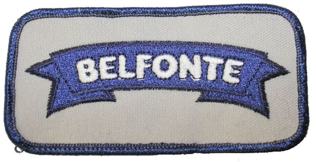 Belfonte Dairy Grey and Navy Uniform Patch