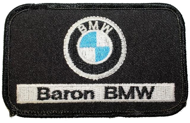Baron BMW Black Logo Uniform Patch
