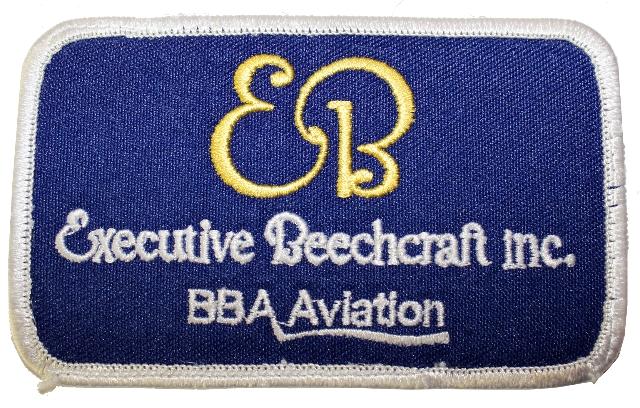 Executive Beechcraft Inc. BBa Aviation Logo Uniform Patch