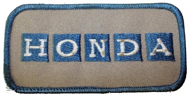 Honda Vehicles Logo Uniform Patch