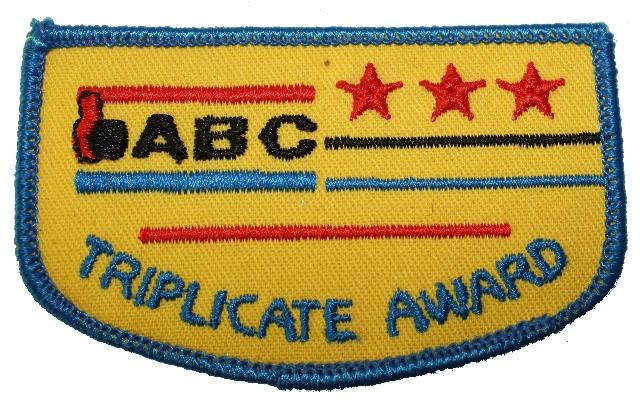 ABC Triplicate Award Bowling Uniform Patch