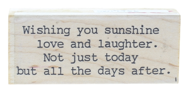 Wishing Sunshine Love and Laughter Abbydoodles G104 Wooden Rubber Stamp