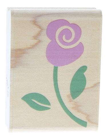 Rubber Stampede Whimsical Rose Stem Wooden Rubber Stamp