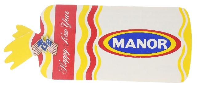 Manor Bread Advertising 1976 Centennial Flag Hat Lapel Pin