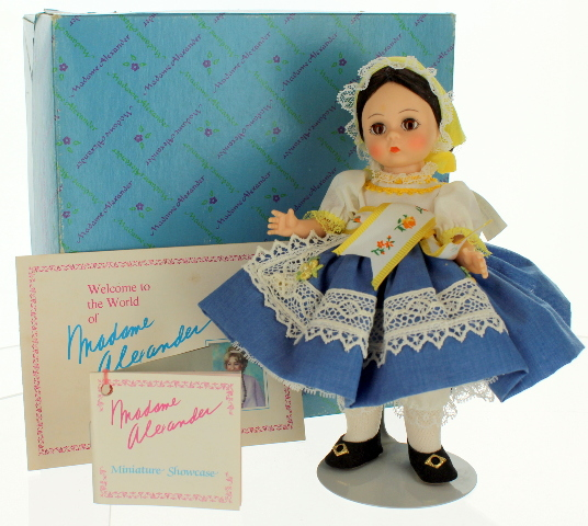 "Vintage Madame Alexander 8"" International Doll Bohemia #608 Box"