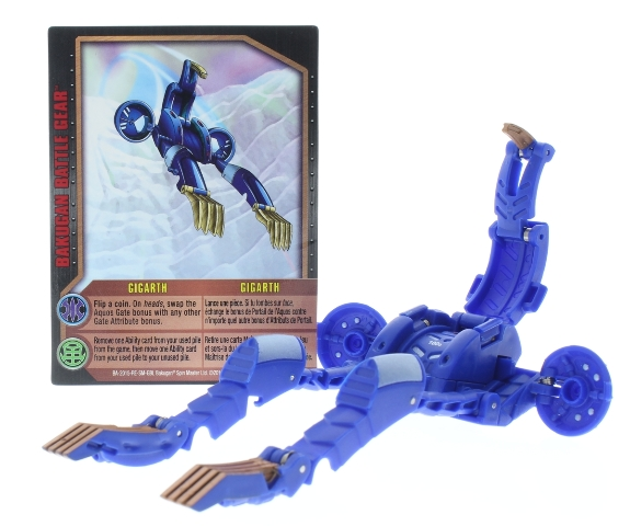 Bakugan Battle Brawlers Gigarth Blue with Gold Combat Set Piece