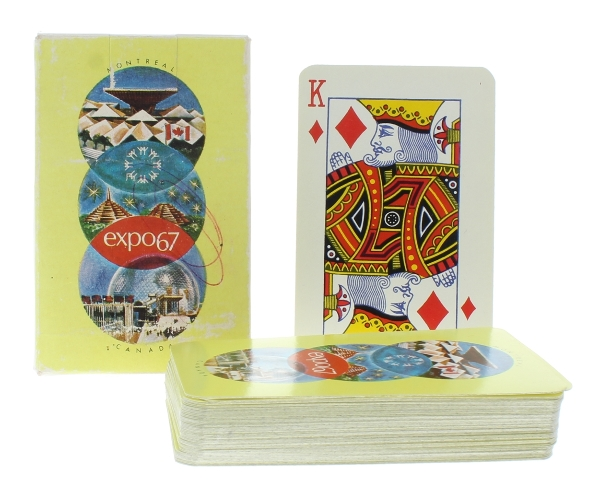 Montreal Canada Expo 1967 Impko Product Belgium Deck of Playing Cards