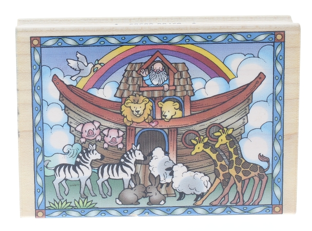 Hero Arts Noah's Ark Boat with Animals Wooden Rubber Stamp