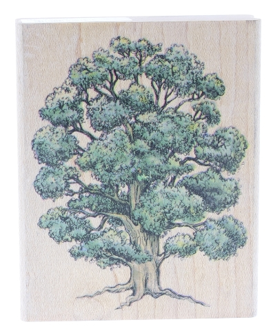 Rubber Stampede Oak Tree Forest Wooden Rubber Stamp