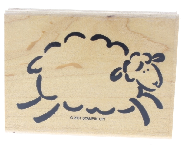 Stamping Up Counting Sheep Wolly Lamb Wooden Rubber Stamp