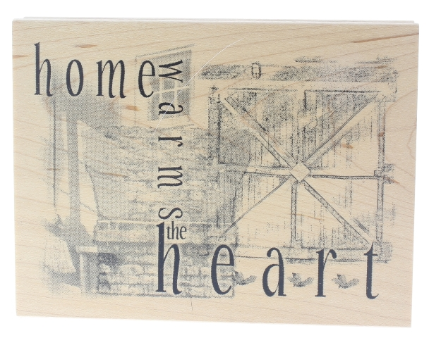 Home Warms the Heart  Limited Edition Wooden Rubber Stamp