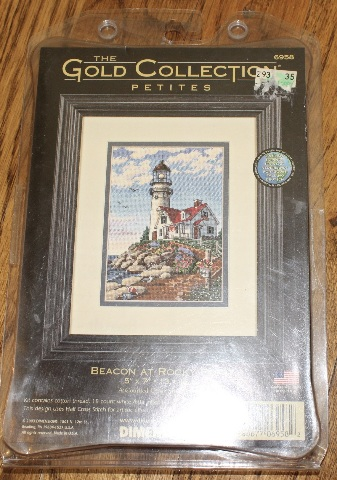 Gold Collection Petites Light House Beacon at Rocky Point Counted Cross Stitch
