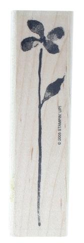 Stampin Up Long Stem Flower Watercolor Design 2005 Wooden Rubber Stamp