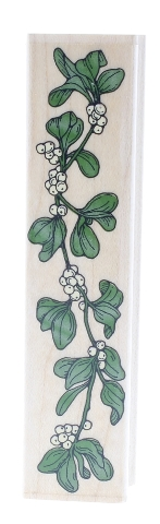 Hero Arts Mistletoe Greenery Swag F189 Wooden Rubber Stamp