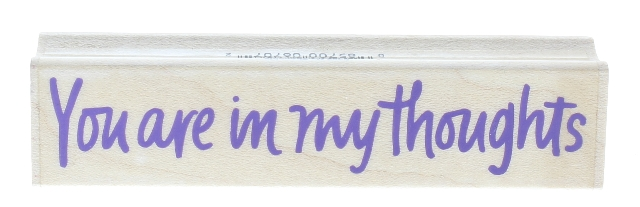 Hero Arts You are in My Thoughts Words Wooden Rubber Stamp