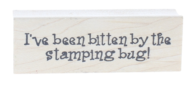 Inky Antics 1999 I've Been Bitten By the Stamping Bug Wooden Rubber Stamp
