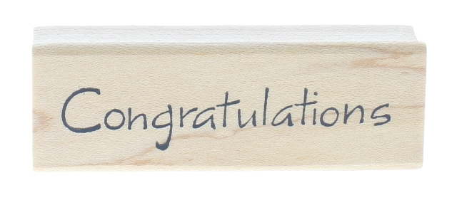 Northwoods Congratulations Fun Writing Words Wooden Rubber Stamp