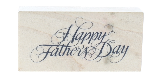 PSX Happy Father's Day F-267 Wooden Rubber Stamp