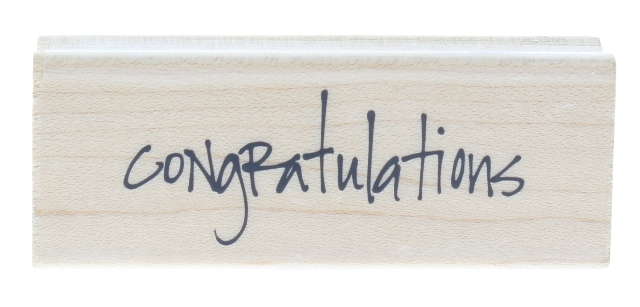Stampabilities 2011 Congratulations Words Writing Wooden Rubber Stamp