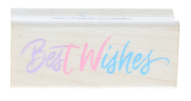 Best Wishes Hero Arts Words Writing Wooden Rubber Stamp