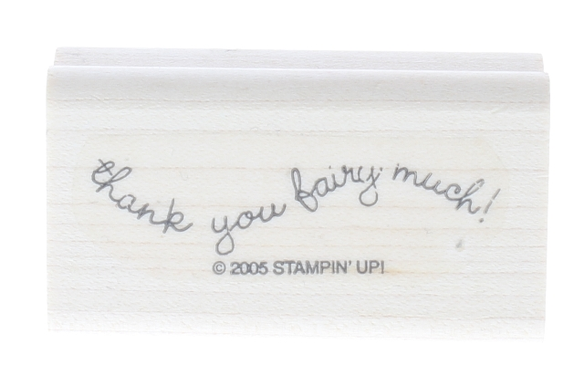Stampin Up Thank You Fairy Much 2005 Wooden Rubber Stamp