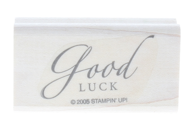 Stampin Up 2005 Good Luck  Wooden Rubber Stamp