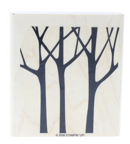 Stampin UP 2006 Silouette of Trees Wooden Rubber Stamp
