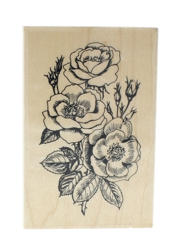 Embossing Arts Rose/Wild #778-J Wooden Rubber Stamp
