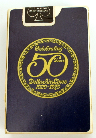 Delta Air Lines 50th Anniversary 1929-1979 Deck of Playing Cards