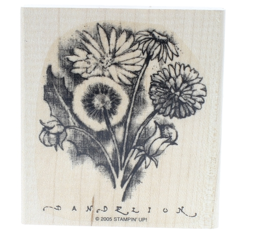 Stampin Up Dandilion Cluster 2005 Wooden Rubber Stamp
