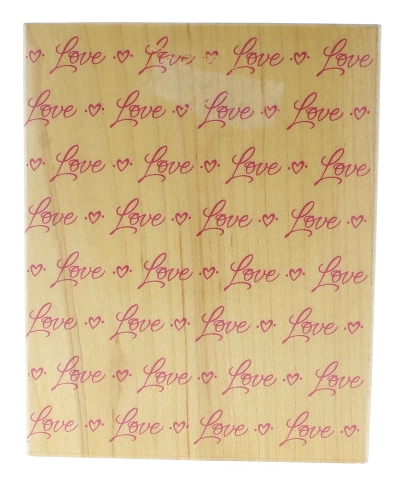 Hero Arts Love All Over Background Romance Wooden Rubber Stamp