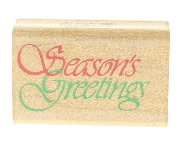 Comotion Season's Greetings 1987 #197 Wooden Rubber Stamp
