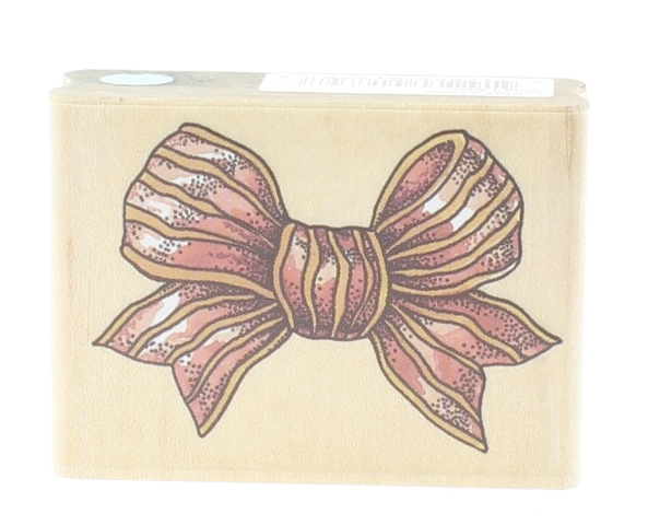 Rubber Stampede Cynthia Hart Small Package Gift Bow Wooden Rubber Stamp
