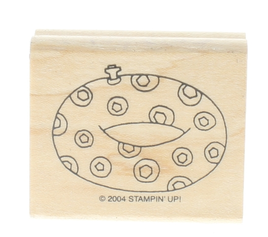 Innertube Beach Pool Party Floating Stampin Up 2004 Wooden Rubber Stamp